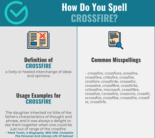 Correct spelling for crossfire