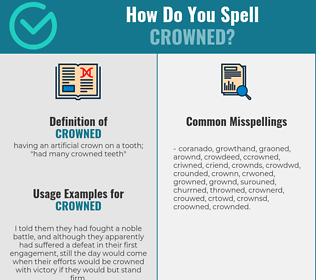 Correct spelling for crowned