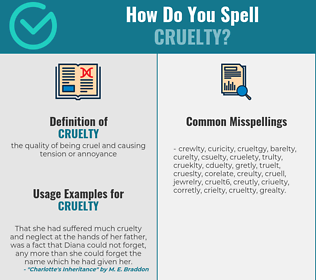 Correct spelling for cruelty
