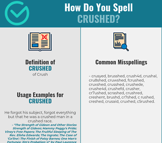 Correct spelling for crushed