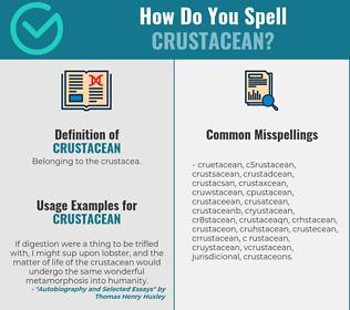 Correct spelling for crustacean