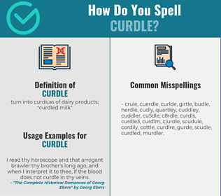 Correct spelling for curdle