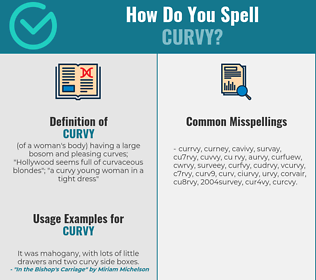 Correct spelling for curvy