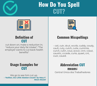 Correct spelling for cut
