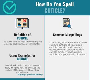 Correct spelling for cuticle