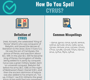 Correct spelling for cyrus