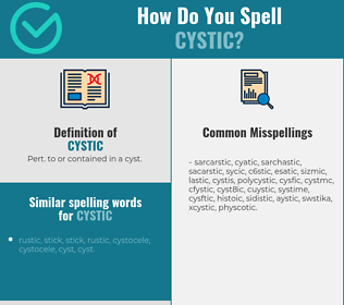 Correct spelling for cystic