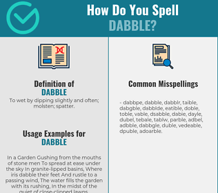 Correct spelling for dabble