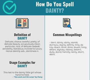 Correct spelling for dainty
