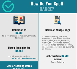 Correct spelling for dance