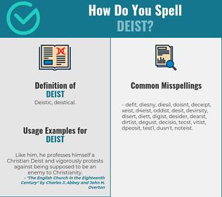 Correct spelling for deist