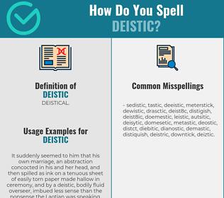 Correct spelling for deistic