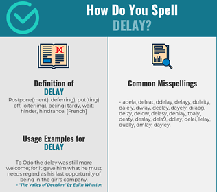 Correct spelling for delay