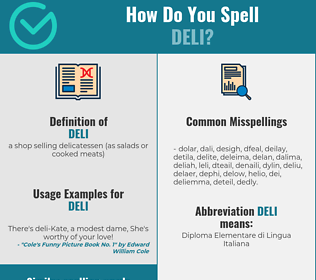 Correct spelling for deli