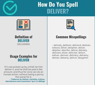 Correct spelling for deliver