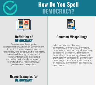 Correct spelling for democracy