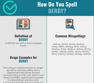 Correct spelling for derby