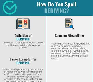 Correct spelling for deriving