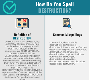 Correct spelling for destruction