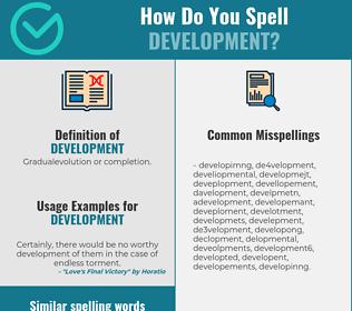 Correct spelling for development