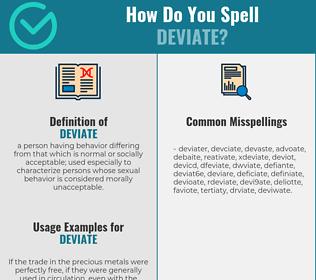 Correct spelling for deviate