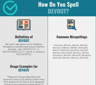 Correct spelling for devout