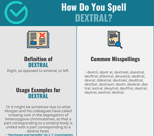 Correct spelling for dextral