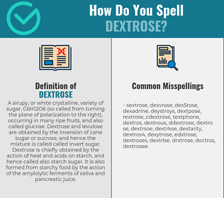 Correct spelling for dextrose