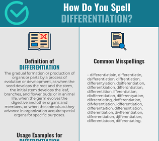 Correct spelling for differentiation