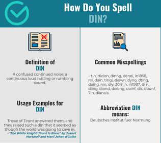 Correct spelling for din