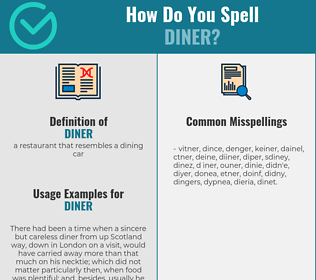Correct spelling for diner