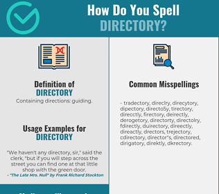 Correct spelling for directory
