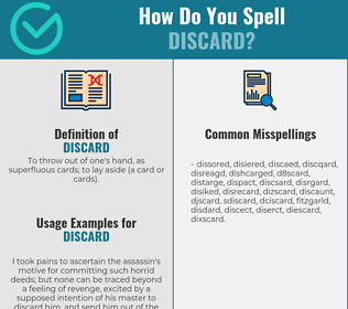 Correct spelling for discard