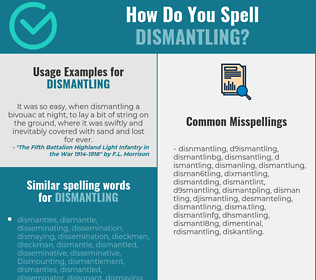 Correct spelling for dismantling