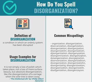 Correct spelling for disorganization