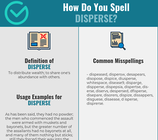 Correct spelling for disperse