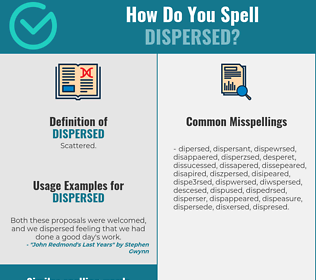 Correct spelling for dispersed