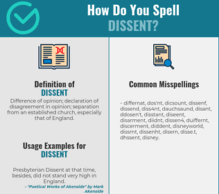 Correct spelling for dissent