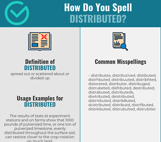 Correct spelling for distributed