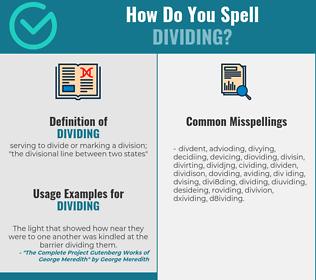 Correct spelling for dividing