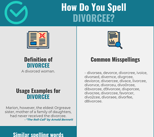 Correct spelling for divorcee