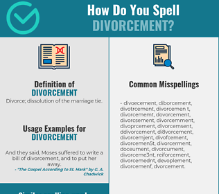 Correct spelling for divorcement