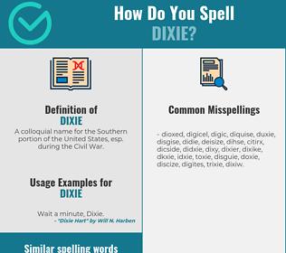 Correct spelling for dixie