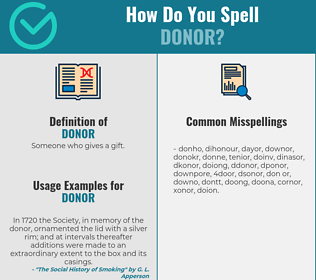 Correct spelling for donor