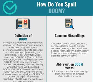 Correct spelling for doom