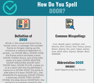 Correct spelling for door