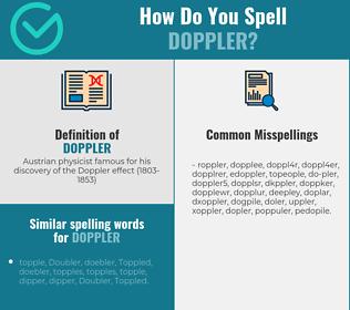 Correct spelling for doppler