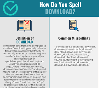 Correct spelling for download