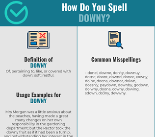 Correct spelling for downy