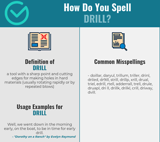 Correct spelling for drill